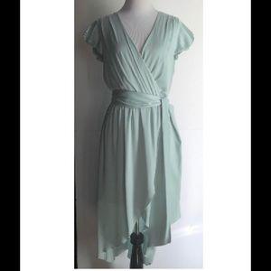 👗 ALICE +OLIVIA Seafoam Green Silk Goddess Dress